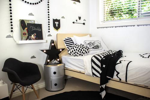 Monochrome Toddler Room