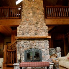 Decorating A Living Room With Fireplace And Tv White Grey Curtains Two-story High Wood-burning