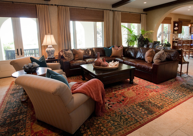 Calabasas Spanish Colonial Home  Eclectic  Living Room