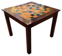 "Tile Topped 36"" Square Table - Dining Tables - by Chairish"