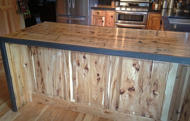 home goods kitchen table and chairs kmart reface hickory/boxcar countertops - rustic denver by circle reclaimed