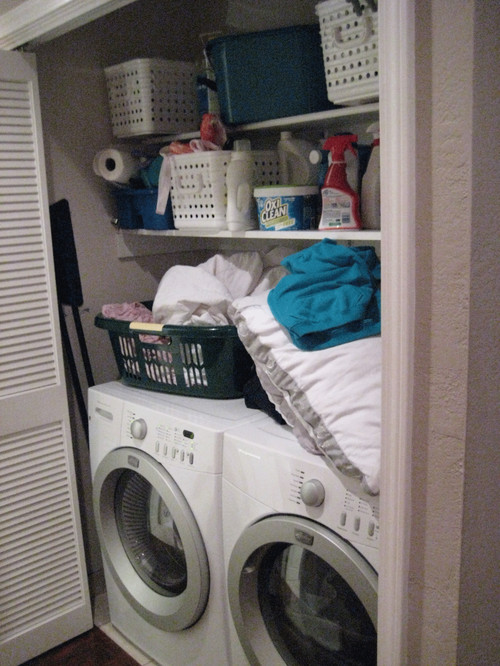 Cramped Hallway Laundry Closet That Needs To Do More