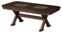 Savanah Coffee Table With Slate Inlay - Southwestern ...