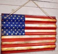 Corrugated Metal American Flag Wall Art - Farmhouse ...
