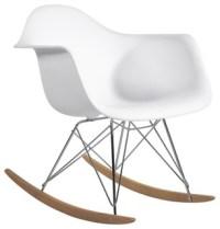Molded Plastic Armchair Rocker - Midcentury - Rocking ...