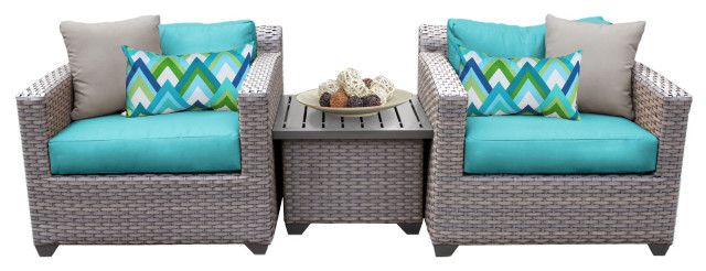 florence 3 piece outdoor wicker patio furniture set 03a