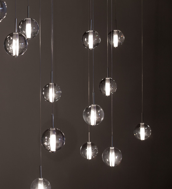 Globe Suspensions Modern Lighting By Premiere Contemporary Living Room