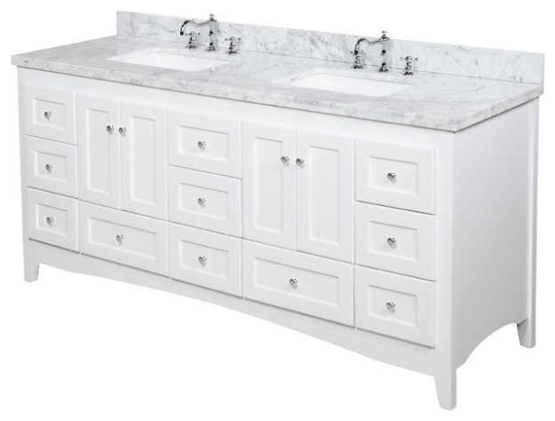 "abbey 72"" double bath vanity - transitional - bathroom vanities and"