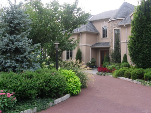 front yard landscape design nj