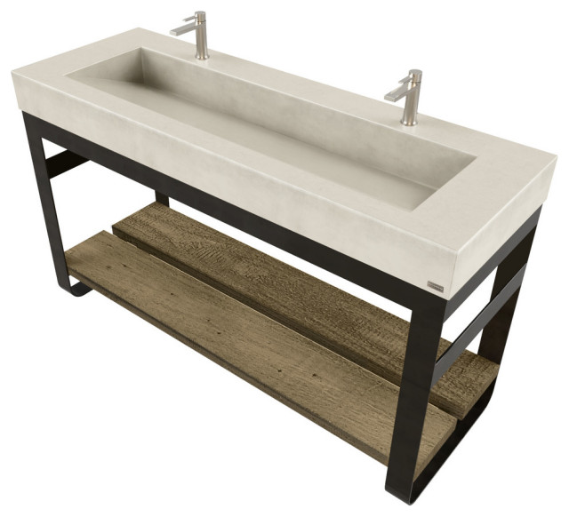 60 outland vanity with concrete ramp sink concrete