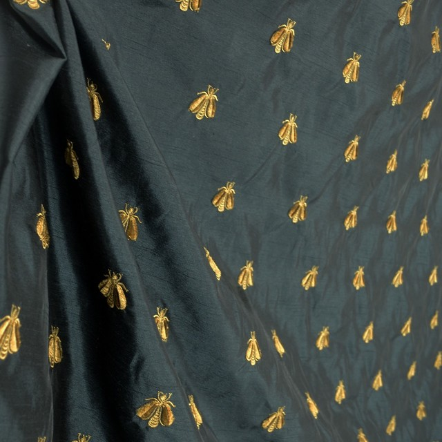 animal print sofas swedish sofa company bumble black 263a embroidered poly drapery bee fabric ...