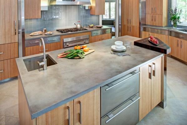 concrete kitchen countertops island Concrete Kitchen Countertop and Island - Contemporary - Kitchen - New York - by Trueform Concrete