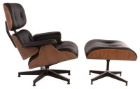 Classic Mid Century Modern Italian Leather Lounge Chair