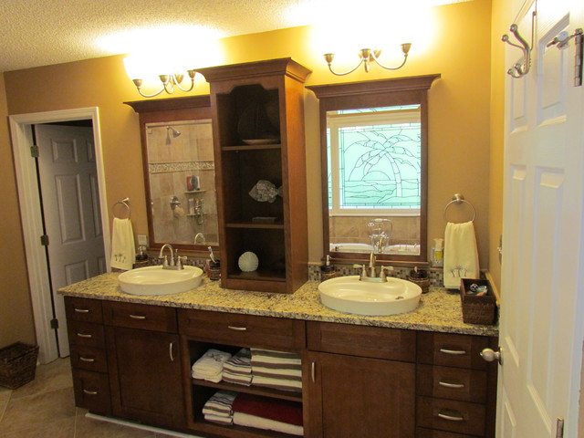 kitchen lights lowes resurface cabinets kraftmaid sonata cherry - harris traditional bathroom ...