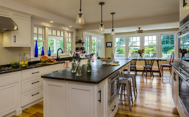 Cape Cod Style Farmhouse RenovationRemodel Kittery Maine Traditional Kitchen Boston By