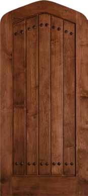 Jeld Wen 1301 Clear Alder Tudor Door Cherry Finish Gothic