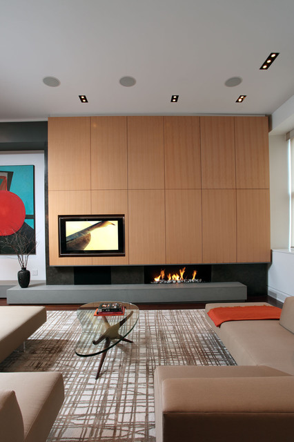 small living room tv fireplace funky chairs 7 ways to rock a and combo