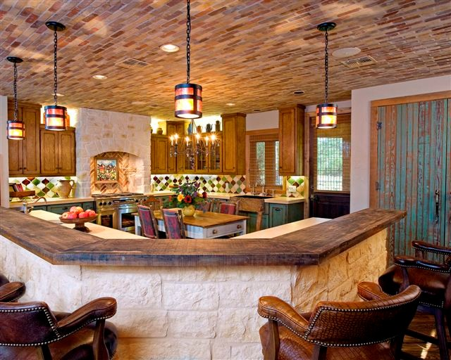 Rustic Ranch Kitchen By Design House Inc Rustic Houston By
