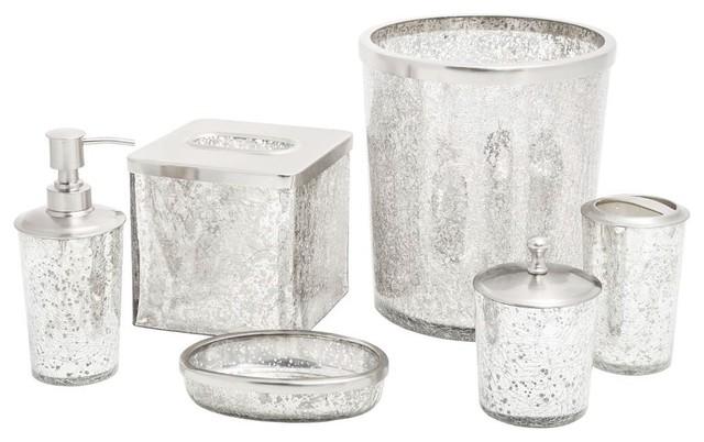 contemporary bathroom accessories set