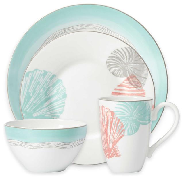 coastal living room furniture sets office design ideas lenox sandy point 48-piece dinnerware set, service for 12 ...