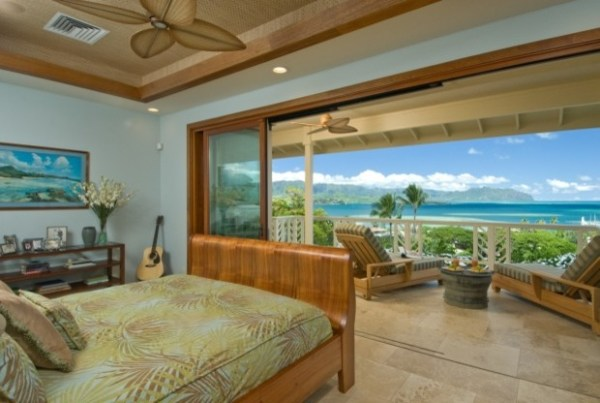 beautiful tropical bedroom design Master Bedroom view 2 - Tropical - Bedroom - hawaii - by Archipelago Hawaii Luxury Home Designs