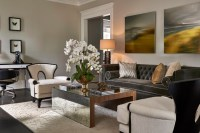 Updated Traditional Home Formal Living Room - Transitional ...