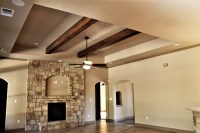 Tray Ceiling with Faux Wood Beams - Traditional - Family ...
