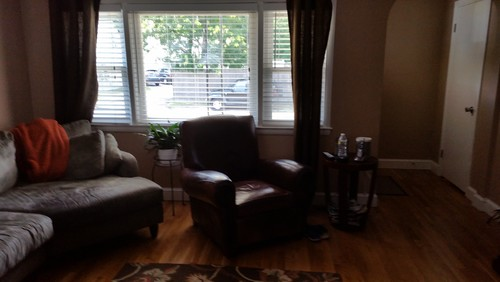 curtains for living room with grey sofa furniture rooms to go need find a rug and match tan/beige walls ...