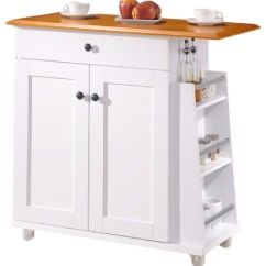 Wooden Kitchen Cart Sheers Balmore 2 Tone White And Dark Brown Lacquered Wood Trolley Transitional Islands Carts By Baxton Studio