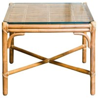 McGuire Style Bamboo Side Table - $750 Est. Retail - $400 ...