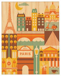 """Paris, Small Unframed, 8""""x10"""""""