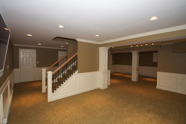 HCC BASEMENTS  Traditional  Basement  Philadelphia  by Hammerhead Custom Carpentry LLC of