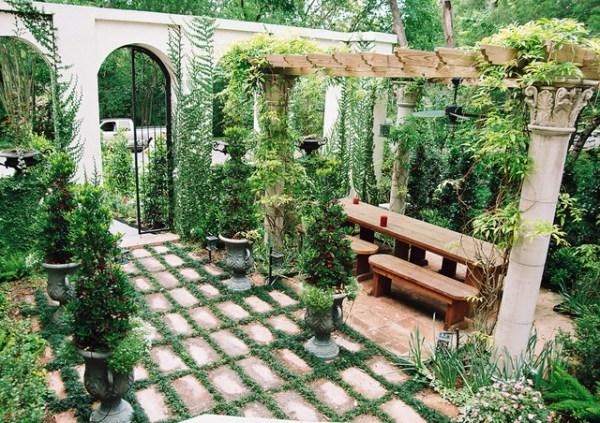 mediterranean backyard in houston
