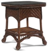 Casablanca Wicker Rattan End Table - Tropical - Furniture ...