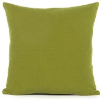 "Solid Olive Green Accent, Throw Pillow Cover, 16""x16"