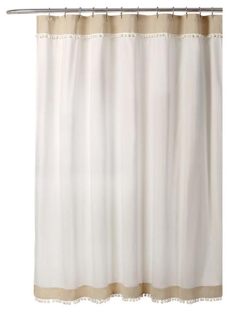 https www houzz com products adelyn pom pom shower curtain neutral 72x72 prvw vr 113072711