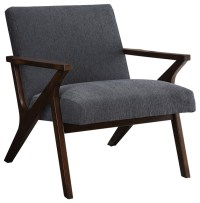 Mid Century Wood Arm Chair - Midcentury - Armchairs And ...