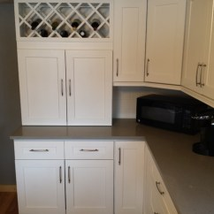 Porcelain Undermount Kitchen Sink Easy Design Software Free Download White Shaker Cabinets And Concerto Quartz Countertops ...