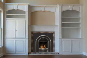 Fireplace With Built In Cabinets  Traditional  Family