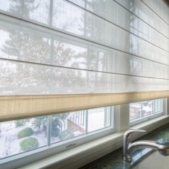 Log Cabin Living Rooms Ideas Fau Room Tickets Custom Roman Shade Close-up - Semi-sheer Fabric