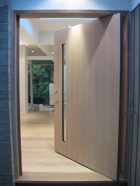 artwork for kitchen tall table and chairs white oak front door - contemporary entry vancouver ...