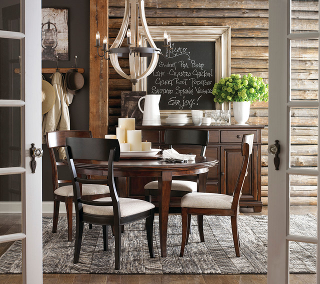 Highlands Round Dining Table by Bassett Furniture  Contemporary  Dining Room  Other  by