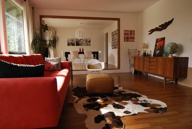 Midcentury modern living room  Modern  Living Room  Portland