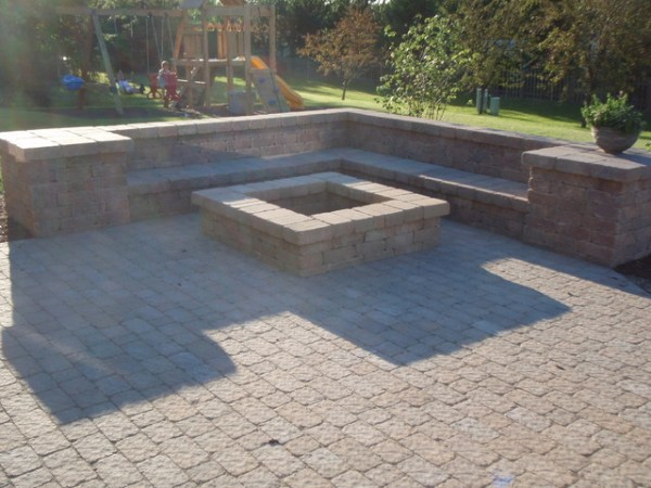 paver patio with fire pit design ideas Fire pit and paver patio