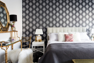 West Town Condo: Master Bedroom Redecoration transitional-living-room