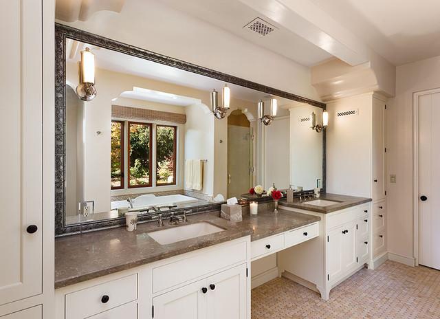 Hope Ranch Spanish Style Custom Home Master Bath