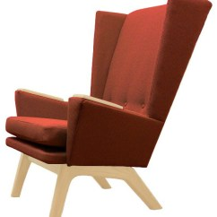 Orange Upholstered Chair Hanging Apartment Rust Wingback Mid Century Modern Handcrafted Lounge