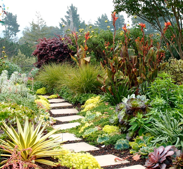 Garden Paths And Landscape Steps Contemporary Landscape San