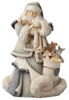 Enesco Foundations Santa With Baby Jesus Masterpiece