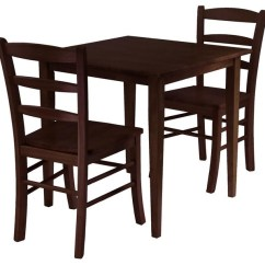 2 Chair Dining Set Small Living Room Chairs Groveland 3 Pc Wood Table Antique Transitional Sets By Shopladder
